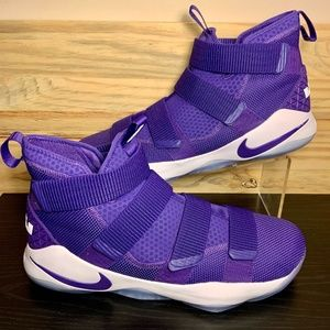 New Nike LeBron Soldier XI Lakers Basketball Shoes